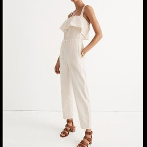 Madewell Apron Ruffle Jumpsuit Womens Large